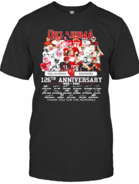 Oklahoma Sooners 126Th Anniversary 1895 2021 Thank You For The Memories T-Shirt