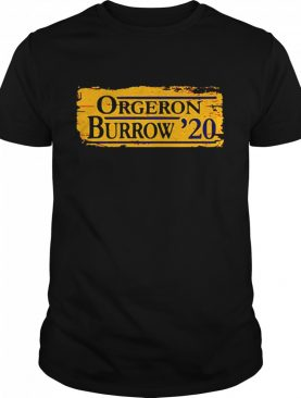 Orgeron Burrow 2020 shirt
