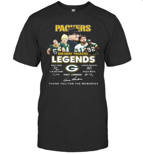 Packers Green Bay Legends Thank You For The Memories Signature T-Shirt Classic Men's T-shirt