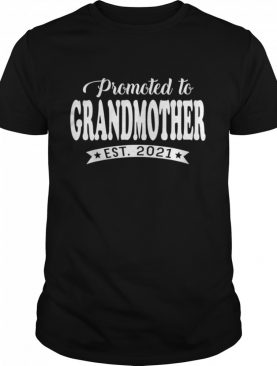 Promoted to Grandmother 2021 Mothers Day New Mom shirt