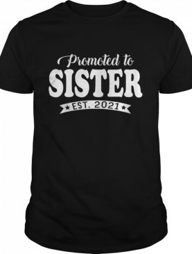 Promoted to Sister 2021 Mothers Day New Mom Grandma shirt