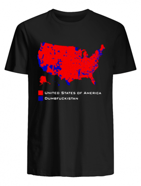 Republican Version United States of America Vs. Dumbfuckistan Election Map shirt