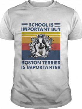 School Is Important But Boston Terrier Is Importanter Dog Vintage shirt