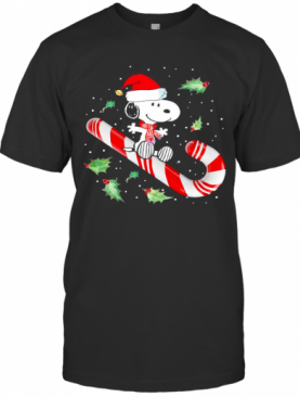Snoopy Candy Cane Happy Merry Christmas 2020 T-Shirt