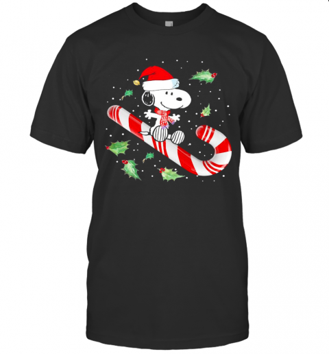 Snoopy Candy Cane Happy Merry Christmas 2020 T-Shirt Classic Men's T-shirt