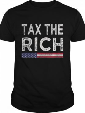 Tax The Rich Vintage American Flag Election shirt