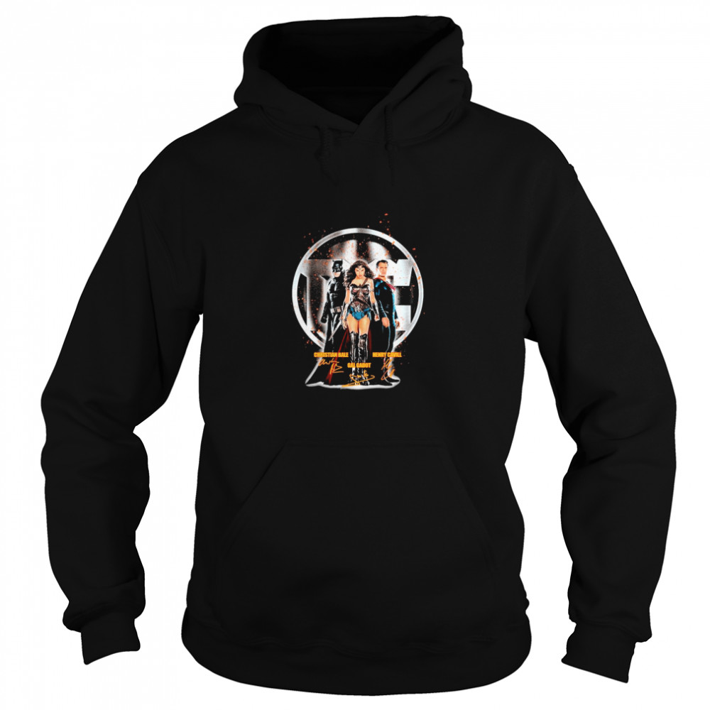 The Marvel Christian Bale Gal Gadot Henry Cavill signature  Unisex Hoodie