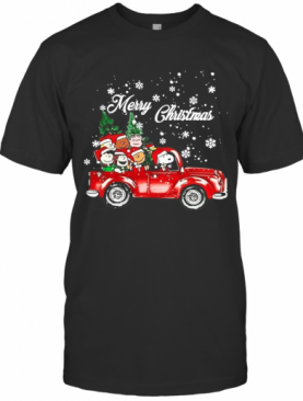 The Peanuts With Red Truck Merry Christmas T-Shirt