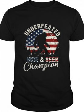 Undefeated Hide And Seek Champions Vintage American Flag shirt