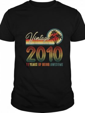Vintage 2010 11 Years Of Being Awesome 11th Birthday shirt