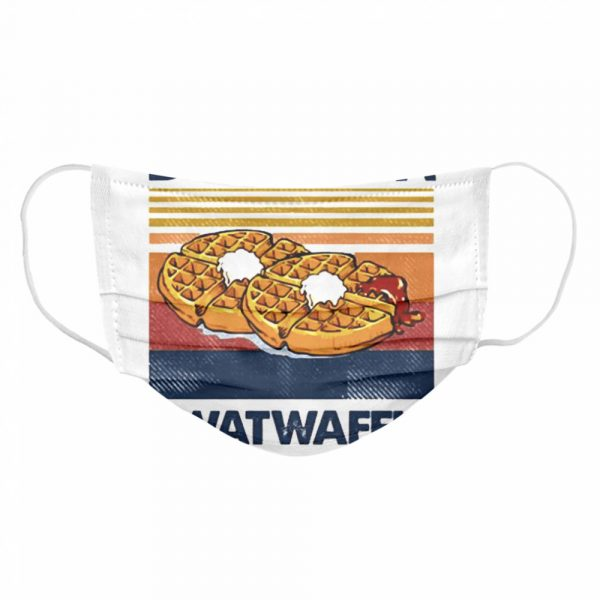 Vintage Dont be a Twatwaffle  Cloth Face Mask