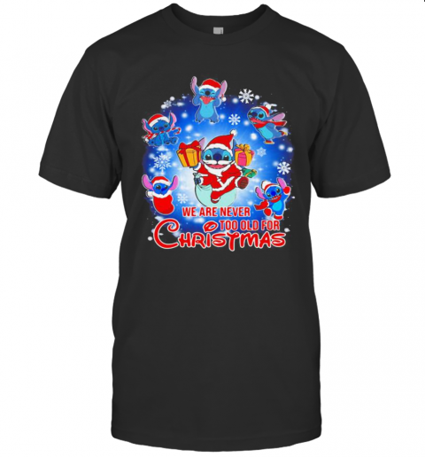 We Are Never Too Old For Christmas Disney Stitch Santa T-Shirt Classic Men's T-shirt