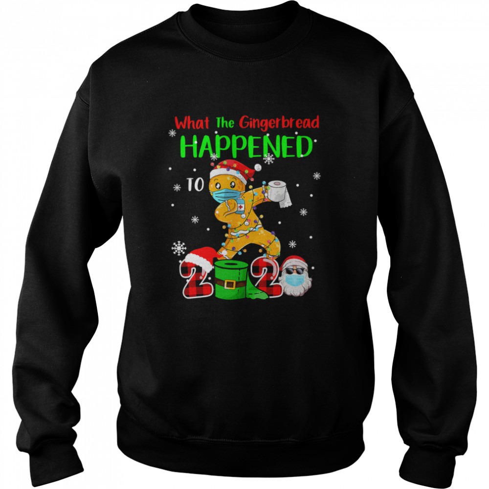 What The Gingerbread Happened To 2020 Gingerbread Face Mask  Unisex Sweatshirt