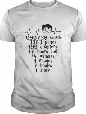 Words Pages Chapters Hours And Minutes Movies Books Story shirt