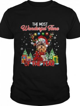 Yorkshire Terrier The Most Wonderful Time Of The Year Christmas shirt