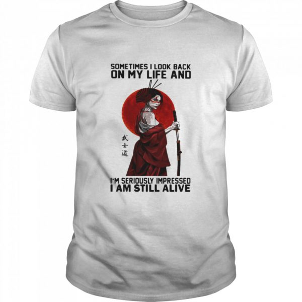 ometime I Look Back On My Life And I'm Seriously Impressed I Am Still Alive Ninja The Moon  Classic Men's T-shirt