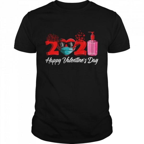 2021 Face Mask Happy Valentines Day  Classic Men's T-shirt