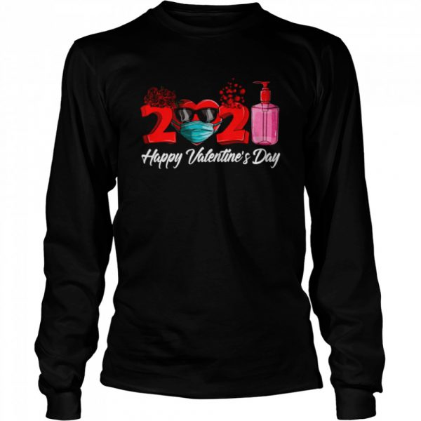 2021 Face Mask Happy Valentines Day  Long Sleeved T-shirt