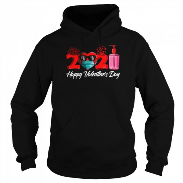 2021 Face Mask Happy Valentines Day  Unisex Hoodie