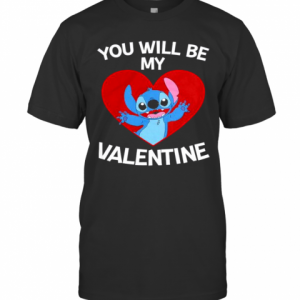 Baby Stitch You Will Be My Valentine T-Shirt Classic Men's T-shirt