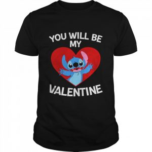 Baby Stitch you will be my Valentine  Classic Men's T-shirt