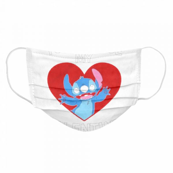 Baby Stitch you will be my Valentine  Cloth Face Mask