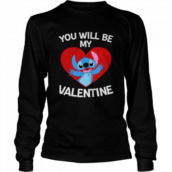 Baby Stitch you will be my Valentine  Long Sleeved T-shirt