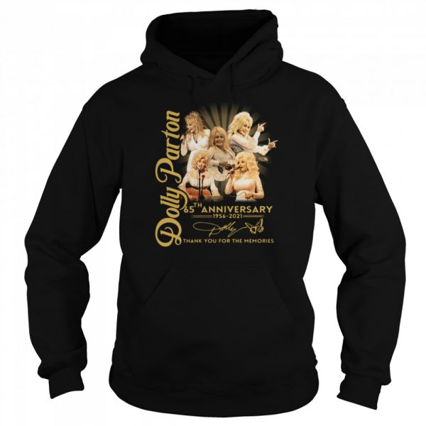 Dolly Parton 65th anniversary 1956 2021 thank you for the memories signature  Unisex Hoodie