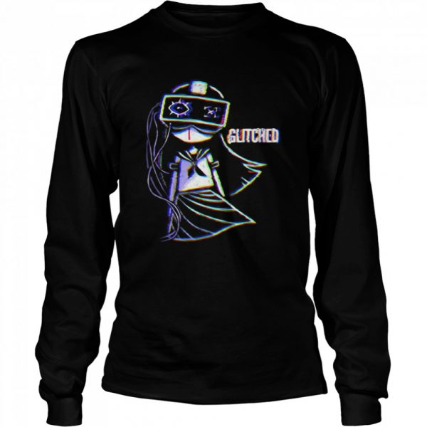 Glitched Ladies Black Gothic  Long Sleeved T-shirt
