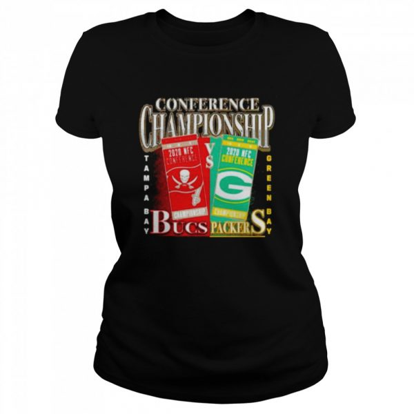 Green Bay Packers vs Tampa Bay Buccaneers 2020 NFC Conference Championship Matchup  Classic Women's T-shirt