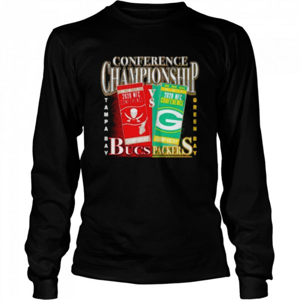 Green Bay Packers vs Tampa Bay Buccaneers 2020 NFC Conference Championship Matchup  Long Sleeved T-shirt