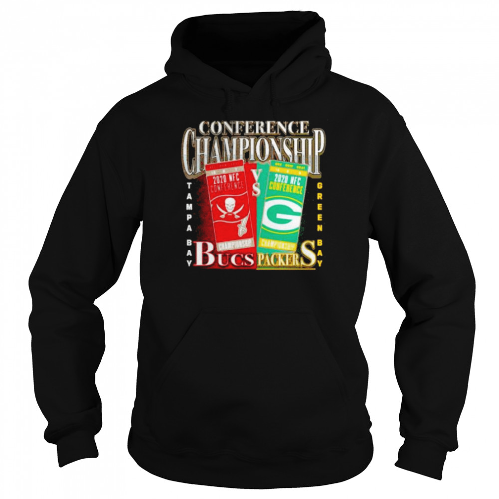 Green Bay Packers vs Tampa Bay Buccaneers 2020 NFC Conference Championship Matchup Unisex Hoodie