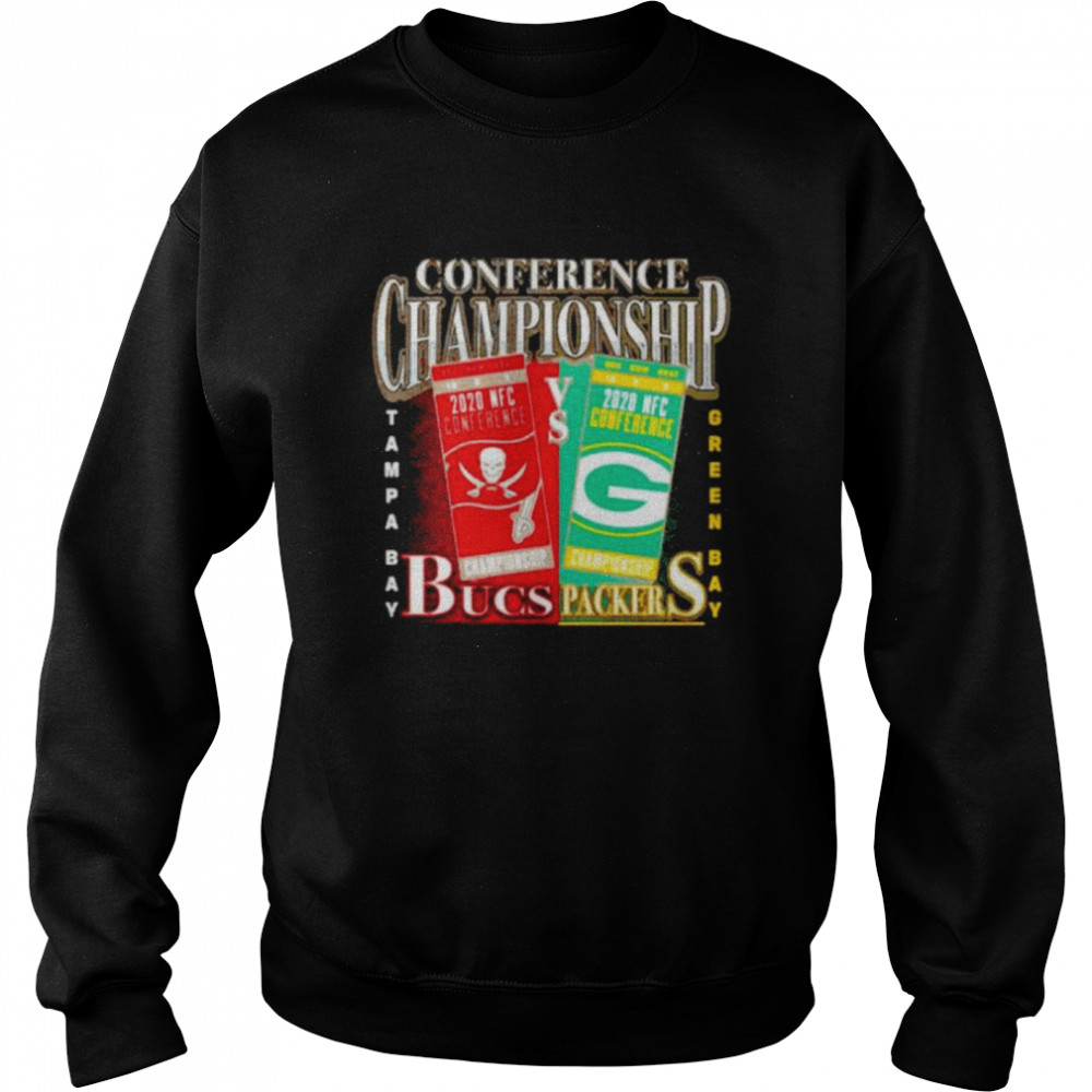 Green Bay Packers vs Tampa Bay Buccaneers 2020 NFC Conference Championship Matchup Unisex Sweatshirt