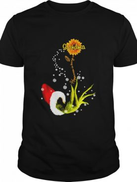 Grinch happiness is being a grandma sunflower shirt