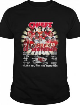 Kansas City Chiefs 60th Anniversary 1960 2020 Thank You For The Memories Signatures shirt