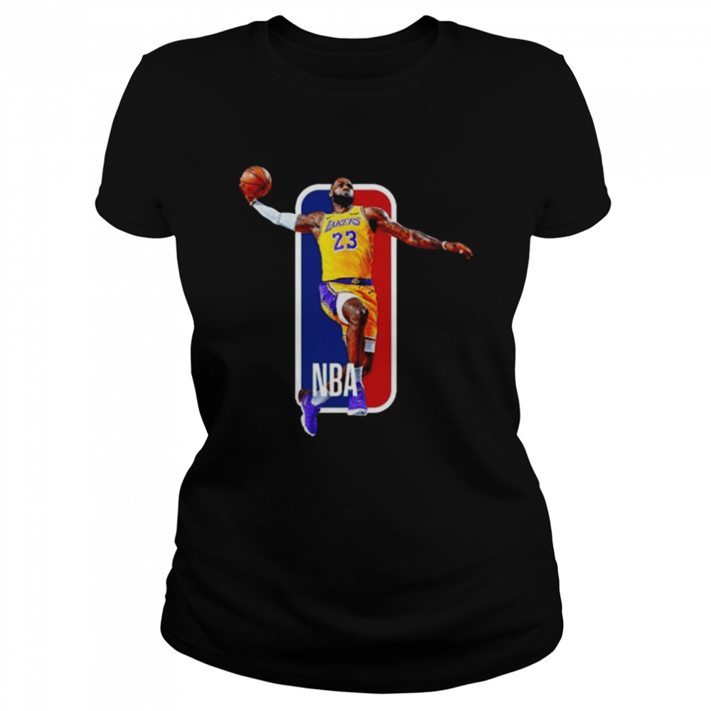 Los Angeles Lakers 23 Lebron James Nba  Classic Women's T-shirt
