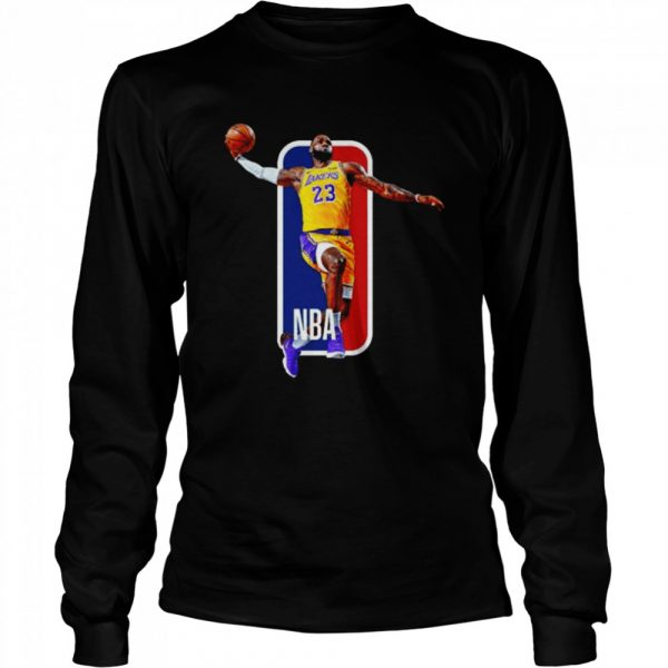 Los Angeles Lakers 23 Lebron James Nba  Long Sleeved T-shirt