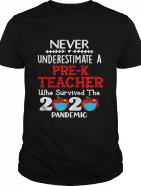 Never Underestimate A Pre-K Teacher Who Survived The 2020 Pandemic shirt