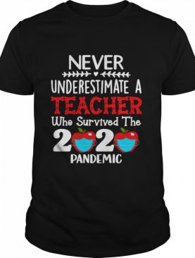Never Underestimate A Teacher Who Survived The 2020 Pandemic shirt