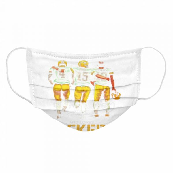 Never Underestimate A Woman Who Understands Football And Loves Packers Favre And Starr And Rogers  Cloth Face Mask