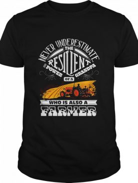 Never Underestimate Resilient Power Of A grandpa Who Is Also A Farmer shirt