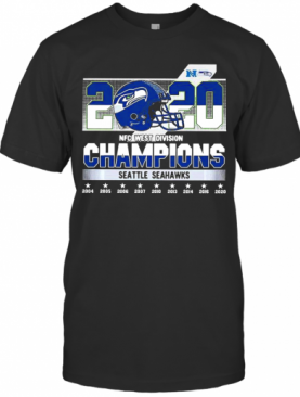 Seattle Seahawks 2020 NFC West Division Champions T-Shirt