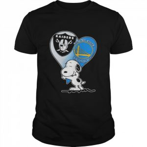 Spoony Heart Oakland Raiders and Golden State Warriors  Classic Men's T-shirt