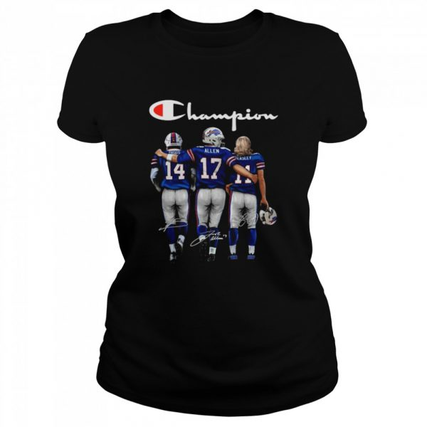 The Buffalo Bills Diggs Allen And Beasley Champions Signatures 2021  Classic Women's T-shirt