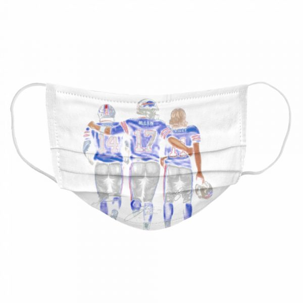 The Buffalo Bills Diggs Allen And Beasley Champions Signatures 2021  Cloth Face Mask