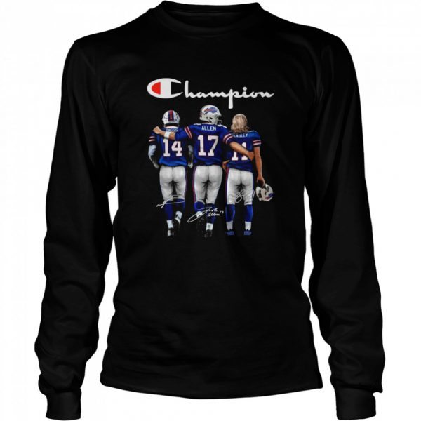 The Buffalo Bills Diggs Allen And Beasley Champions Signatures 2021  Long Sleeved T-shirt