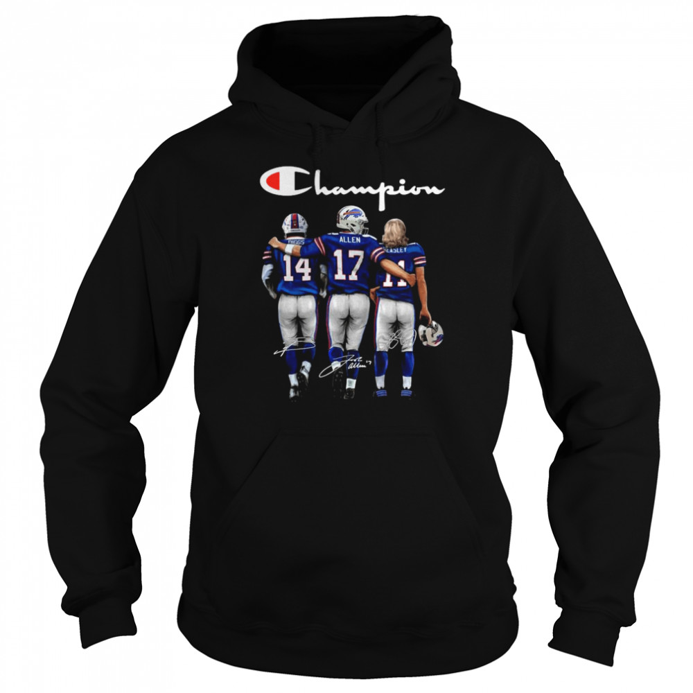 The Buffalo Bills Diggs Allen And Beasley Champions Signatures 2021  Unisex Hoodie