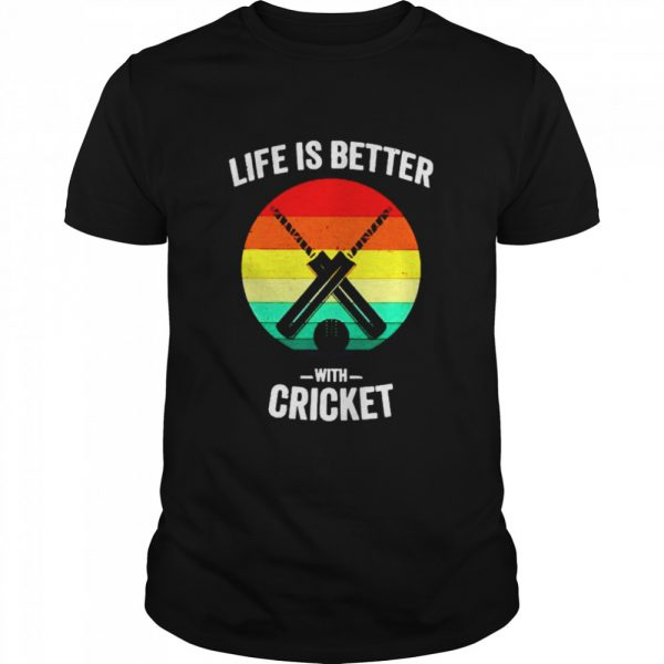 Vintage Life is Better with cricket  Classic Men's T-shirt