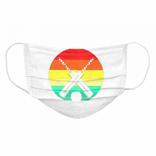 Vintage Life is Better with cricket  Cloth Face Mask