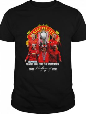 Wayne Rooney Manchester United Thank You For The Memories 2002 2021 Signature shirt